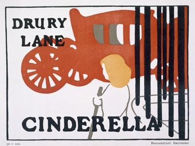 Poster for Cinderella at the Drury Lane Theatre, London