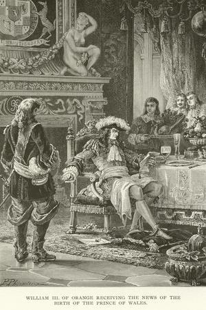 William III of Orange Receiving the News of the Birth of the Prince of Wales