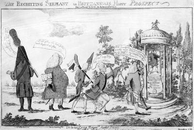 The Recruiting Sergeant or Britannia's Happy Prospect, 1757