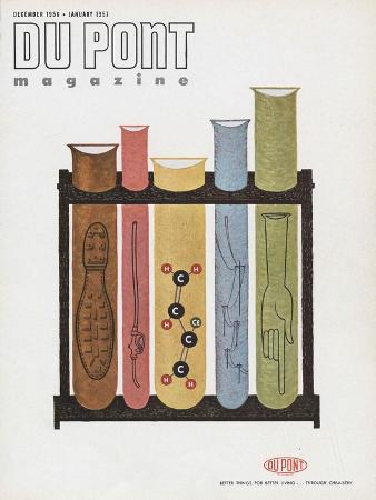 Chemistry, Front Cover of 'The Du Pont Magazine', December 1956- January 1957