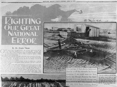 Righting Our Great National Error', Poster Produced During the The Dust Bowl, June 16, 1935