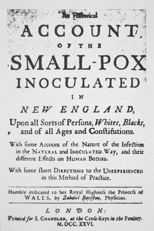 Account of the Small Pox Innoculated in New England', Pamphlet Published in London