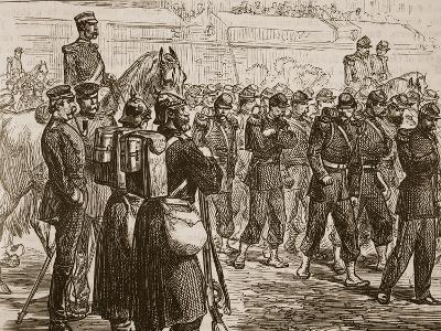 Evacuation of Metz, 1870, Illustration from 'Cassell's Illustrated History of England'