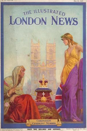 Front Cover of 'The Illustrated London News Coronation Ceremony Number', 15th May 1937