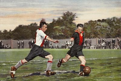 Dutch Football: Olympia V. Hollandiaan, from a Album Issued by Miss Blanche Cigarettes, 1934