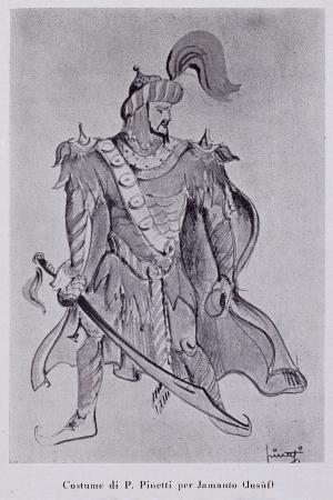 Sketch for Costume of Jamanto, for the Homonymous Opera of Italian Composer Elena Barbara Giuranna