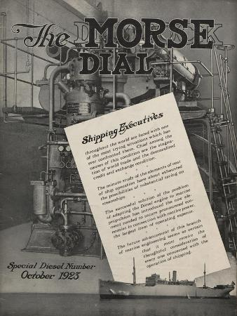 Special Diesel Number, Front Cover of the 'Morse Dry Dock Dial', October 1923