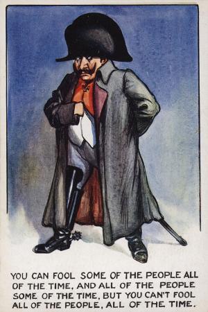 Ww1 Cartoon Propaganda Postcard of Kaiser Wilhelm II Disguised as Napoleon