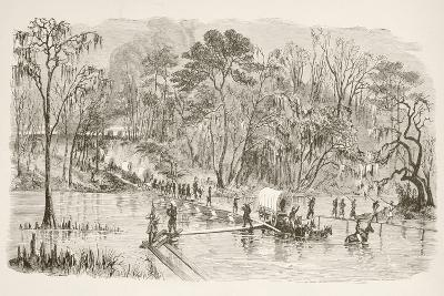General Sherman's Troops Crossing the Edisto River During the March to the Sea