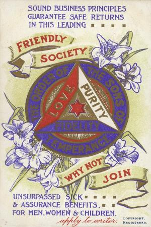 Invitation to Join the Friendly Society of the Order of the Sons of Temperance