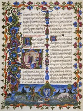 The End of Book of Solomon, from Volume I of Bible of Borso D'Este, Illuminated by Taddeo Crivelli