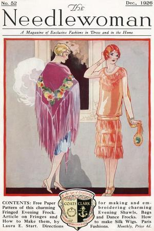 Fashion Plate, Cover Illustration from 'The Needlewoman' Magazine, No.52, December 1926
