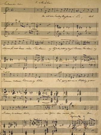 Handwritten Score for Haugtussa, Opus 67, Song Cycle for Soprano and Piano Composed by Edvard Grieg