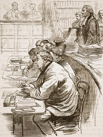 The Tichborne Claimant in Court, Illustration from 'Cassell's Illustrated History of England'