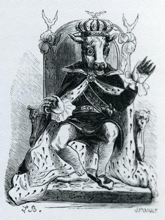 Moloch, Illustration from the 'Dictionnaire Infernal' by Jacques Albin Simon Collin De Plancy, 1863