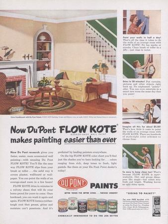 Advertisement for Dupont 'Flow Kote' Paint, Page from 'The Du Pont Magazine', 1953