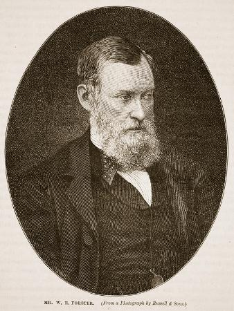 Mr W.E. Forster, 1870, Illustration from 'Cassell's Illustrated History of England'