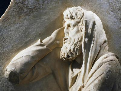 Relief with Old Bearded Man in Profile Identifiable with the God Saturn, Due to the Greek Name Aion