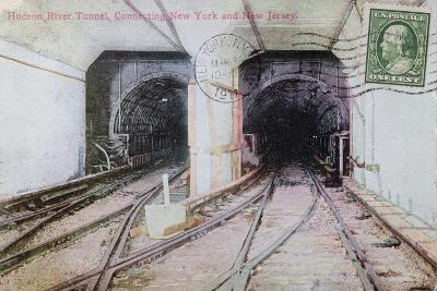 Postcard Depicting the Hudson River Tunnel Connecting New York and New Jersey, 1911