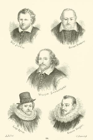 Ben Jonson, George Buchanan, William Shakespeare, Lord Bacon, Edmund Spenser