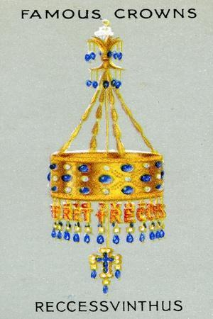 Votive Crown of King Recceswinth, Made of Gold, Rock Crystal, Pearls and Sapphires, 1938