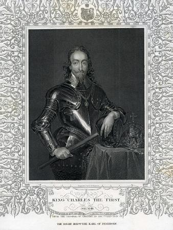 King Charles the First, Engraved by H. Robinson after Van Dyck, 19th Century