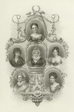 L E Landon, Mrs Opie, Hannah More, Lady Blessington, M R Mitford, Mrs Norton