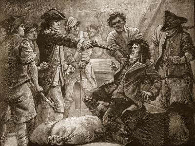 Capture of Wolfe Tone, 1798, Illustration from 'Cassell's Illustrated History of England'