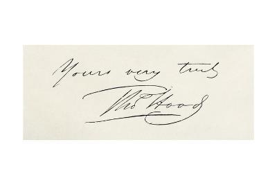 Signature of Thomas Hood, from 'The Complete Poetical Works of Thomas Hood', Published in 1906