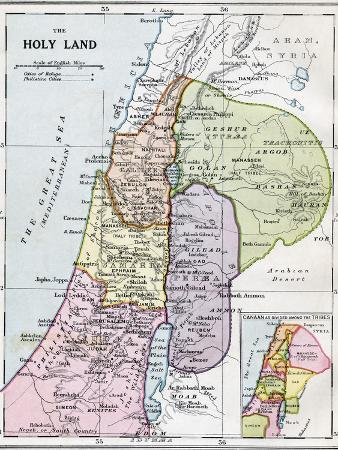 The Holy Land in Biblical Times, from Bacon's 'Excelsior Atlas of the World', Published C.1930