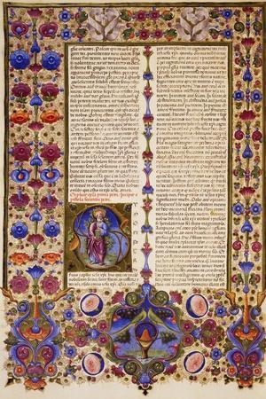 The Second Letter of Peter, from Volume II of Bible of Borso D'Este, Illuminated by Taddeo Crivelli