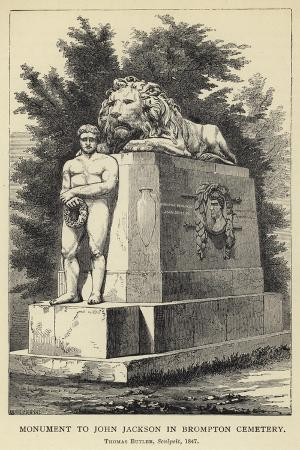 Monument to John Jackson in Brompton Cemetery, Thomas Butler, Sculpsit, 1847