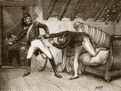 Capture of Goody, 1808, Illustration from 'Cassell's Illustrated History of England'