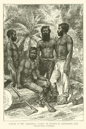 "Natives at the ""Aboriginal Station,"" or Reserve of Coranderrk, Near Healesville, Victoria"