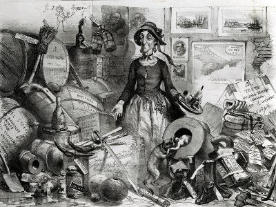 Portrait of the Celebrated Mis(s)-Management Respectfully Dedicated to Her Admirers, 1855