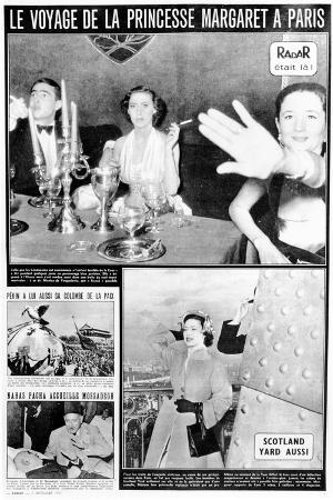 Princess Margaret in Paris, Page from 'Radar' Magazine, Published December 2 1951