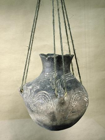 Vessel with a Ribbon-Style Decoration, from Belloye-Sur-Somme, Danubian Neolithic, C.3500 Bc