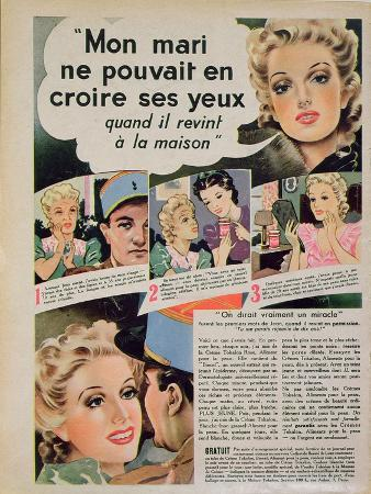 Advertisement for 'Tokalon' Beauty Cream, from 'Marie-Claire', 29th March 1940