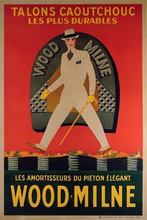 Advertising Poster Depicting Wood Milne Heels, Printed by B. Sirven Toulouse-Paris