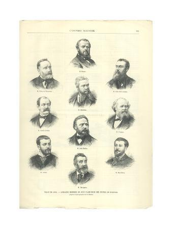 Members of the Jury for Painting at the Salon of 1885, from 'L'Univers Illustré', 1885