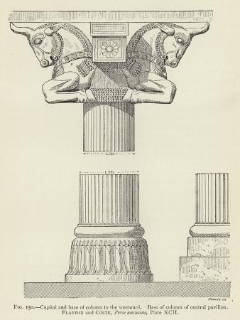 Capital and Base of Column to the Westward, Base of Column of Central Pavilion