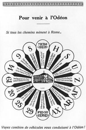 How to Get to the Odeon, Advertisement for the Theatre from 'Odeon Magazine', 1923