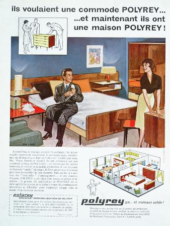 Advertisement for Polyrey Furniture, Published in the Magazine Maison France, June 1960