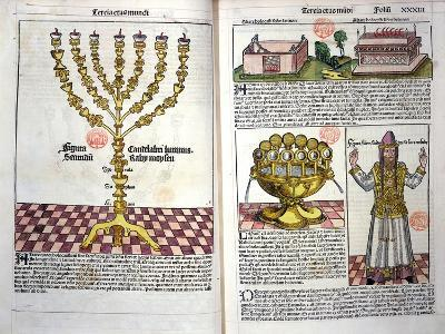 The Menorah and a Hebrew Priest, from the Nuremberg Chronicle by Hartmann Schedel