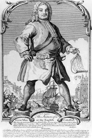 The Statue of a Great Man or the English Colossus, 1740