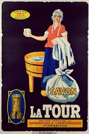 Poster for 'La Tour' Soap, Produced by the Marseille Society for Soap Makers, 1925