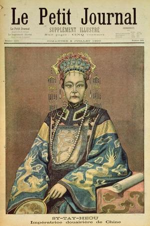 Sy-Tay-Heou, Empress of China, Title Page from 'Le Petit Journal', 8 July 1900