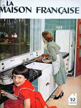 Advertisement for a Kitchen, from 'La Maison Francaise', Front Cover, November 1951