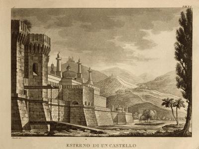 Exterior of a Castle, Set Design for Act I of 'Ricciardo and Zoraide'
