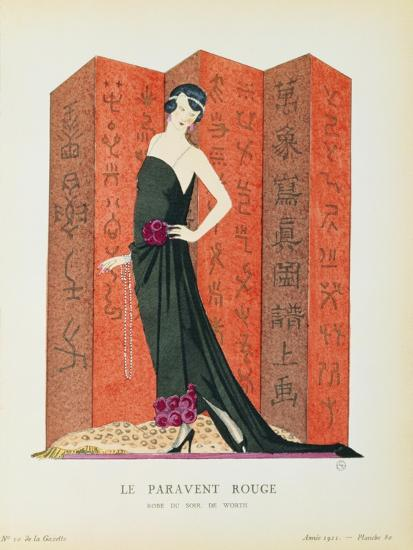 Gazette Du Bon Ton No10 Le Paravent Rouge Evening Dress